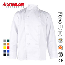 65% poliéster 35% algodón chef coat para restaurante
