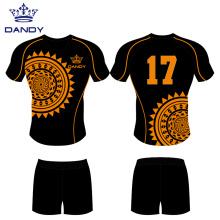 Heat printed rugby club jerseys