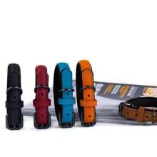Amazon hot sale leather dog collar luxury oem dog collar heavy duty dog leash