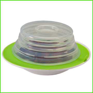 Eco Folding Silicone Plate Topper mit mehreren Funktionen