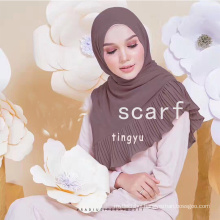High quality Big size 180*75 cm women bubble chiffon hijab crinkle jointed scarf