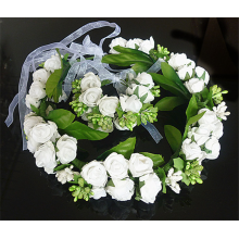 Wholesale price kids hair accessory flower design wreaths and wristbands hair accessory set for girls