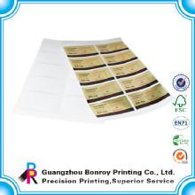 Self adhesive customized cmyk sticker printing paper