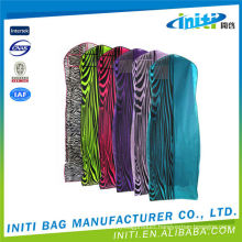 Foldable factory supply high quality garment bag dry cleaning clear plastic zipper garment bag