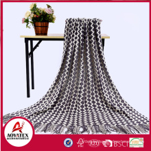 100% acrylic blanket plaid crocheted wholesale throw blanket