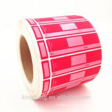 цветная печать двух частей наклейки для печати этикетки