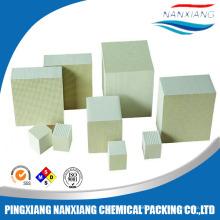 Cordierite honeycomb ceramic monolith for heat exchanger