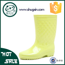 Женская мода дождь ботинки водонепроницаемый женщин плоские туфли