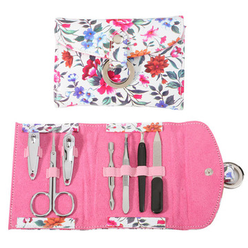 Kit manicure per custodia in pelle PU