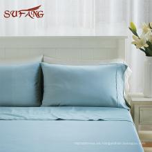 Juego de cama de textil de casa de fibra de bambú popular de los EE. UU. Con funda de almohada artesanal
