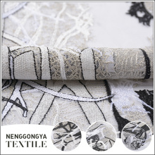 Designer beautiful super poly mesh embroidered lace fabric wholesale