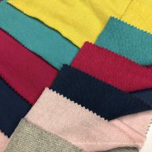 Tecido macio CVC Terry Knitting Hoddies