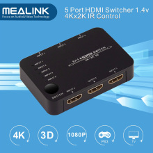 4k 5X1 5 Port HDMI Switcher with IR Remote Control