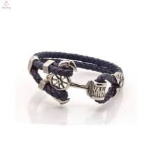 Special Fashion Anchor Design Leather Bracelet