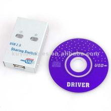 Interruptor de compartilhamento de USB de 2 portas de alta qualidade para PC