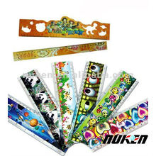 Plastic Lenticular Ruler with 3D Effect Printing