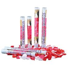 2018 New artificielle Rose Pétale de mariage Cannon Confettis Shooter Party Popper à vendre