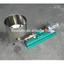 sanitary stainless steel 304 or 316 industrial screw transporting pump