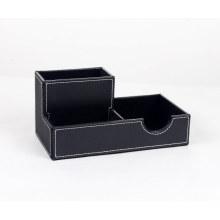 Многофункциональный кожаный органайзер для рабочего стола Pen Holder / Name Card Holder / Memo Pad Holder