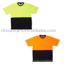 Alta visibilidad reflexiva camiseta de seguridad