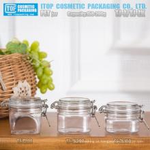 150g - 200g especial e de boa qualidade devenda máscara/creme/gel clip kilner quadrado/hermético embalagens de plástico frasco do animal de estimação