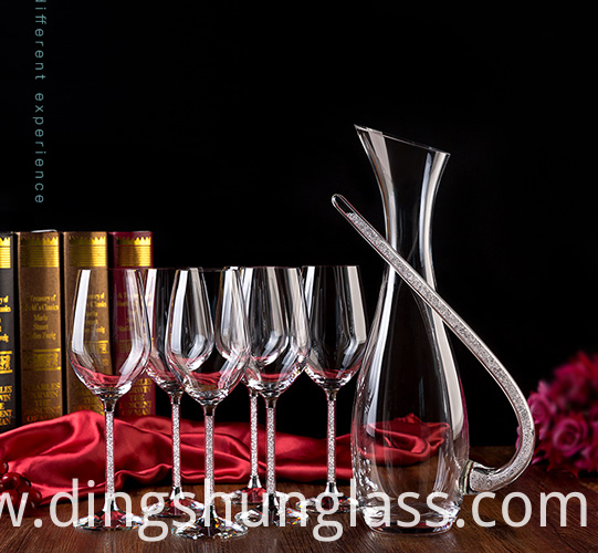 Red wine cup set