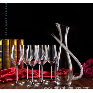 Lead-free crystal wine glass