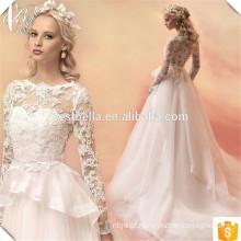 Sparkling Ball Gown Princesa Vestidos de casamento Lace Applique Vestido De Noiva Com Foto Real Hot Sale