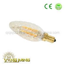 3.5W C35 tornillo de color oro E14 Tienda de trabajo luz LED filamento Bombilla