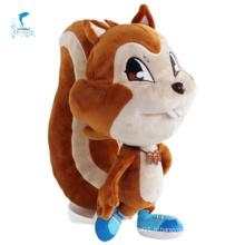 Jouets mignons de personnages animaux écureuil