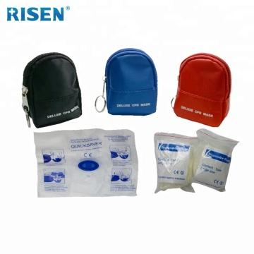 Mund-zu-Mund-Training CPR-Maske mit Handschuhen