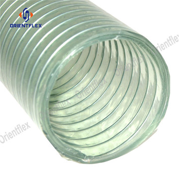 PVC+spiral+steel+wire+reinforced+transparent+hose%2Fpipe