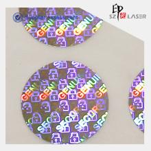 Selo de recipiente de holograma personalizado número da etiqueta
