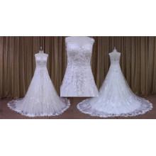 Sexy Fullly Beaded Bodice A Line Wedding Dres