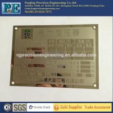 Señales personalizadas de nombre de metal de alta precisión