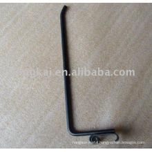 Functional black L shape single peg supermarket display hanging ear wire hook
