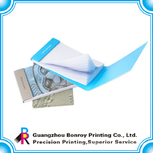 sticky note pad hard cover with logo printing china manufacturer