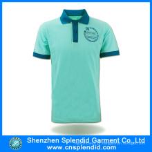 Personalizado 100% algodão camisa de polo moda luz verde roupas com alta qualidade