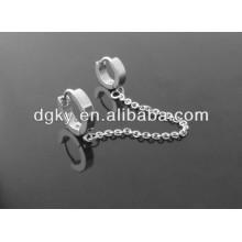 Oreja de acero inoxidable Piercing Pendientes Clip de oído Piercing