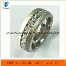 Shine Me Hot vendiendo anillo de titanio de acero inoxidable con piedra