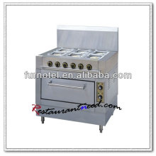K066 With Electric Oven 6 Burners Euro Gas Stove