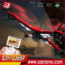 El mejor drone para la venta JJ669 4ch Quadcopter con la cámara de 2MP LED de la luz 3D UAV juguete aéreo de los aviones quita el juguete del aeroplano del control para Ki