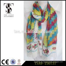El servicio de encargo acepta las bufandas de seda coloridas de la sensación de la gasa de la bufanda del 100%