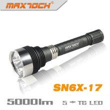 Maxtoch SN6X-17, 5 * crie T6 5000LM aluminium LED lampe de poche
