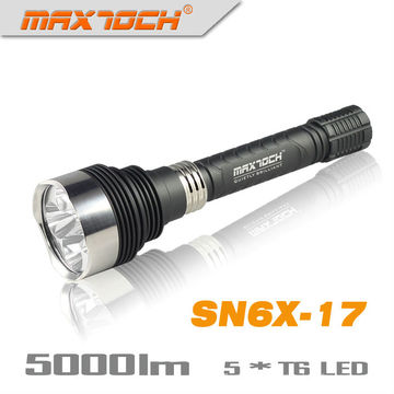 Maxtoch SN6X-17 5*Cree T6 5000LM Aluminum LED Flashlight