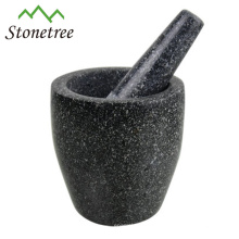 Wholesale Black Marble/Granite Mortar and Pestle For Herb and Spice, Natural Stone Mortar and Pestle, Stone Cookware Kitchenware