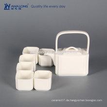 OEM-Logos White Square Creative Fine Ceramic chinesischen Tee-Set