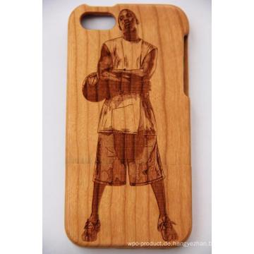 Laser Basket Ball Stern Holz Mobile Cover