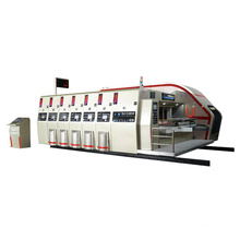 High quality Vacuum Transfer 4 color print slotter die cutting machine with stacker for corrugated carton