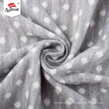 Elegante tejido de punto jacquard de algodón para prendas de vestir para niños